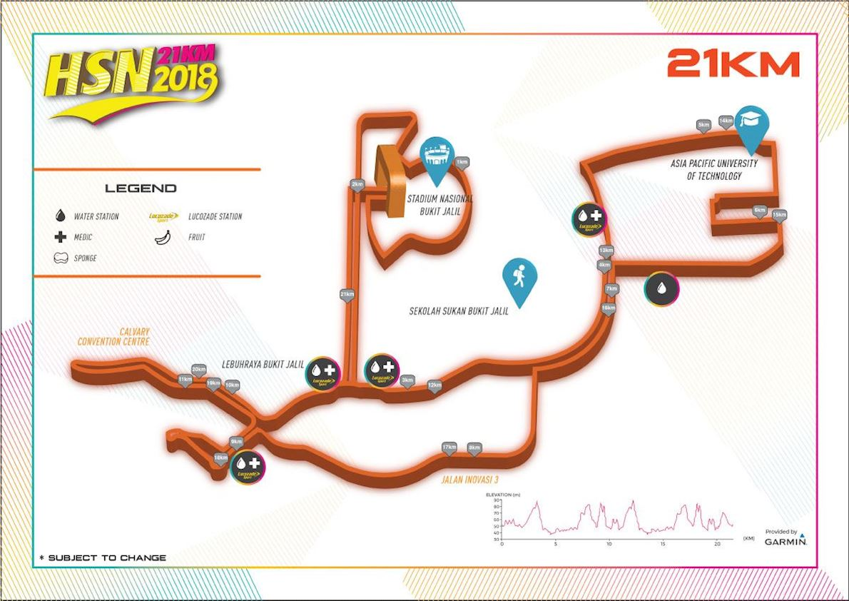 HSN21km Route Map