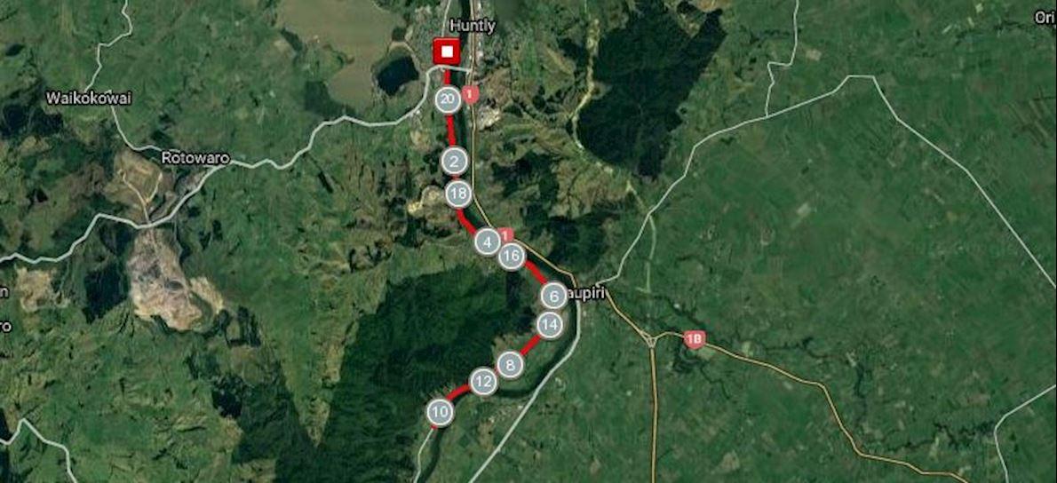 Huntly Half Marathon Routenkarte