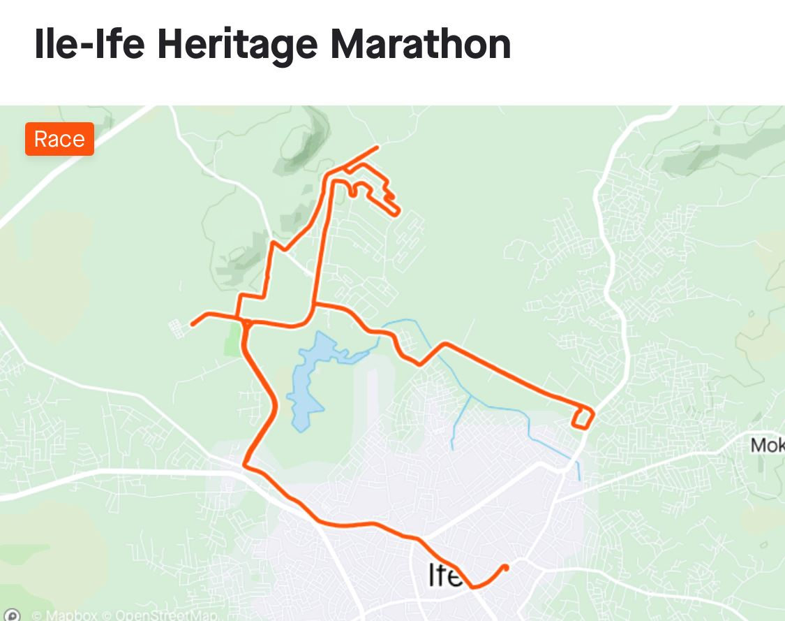 Ile-Ife Heritage Marathon Route Map