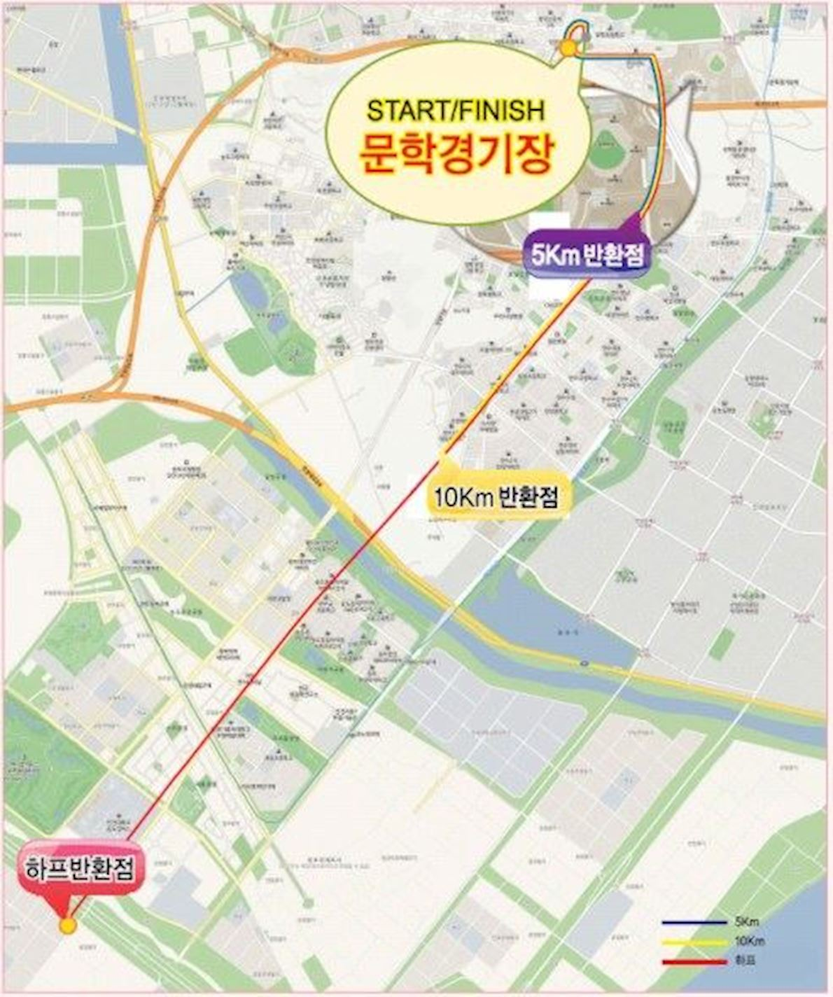 Incheon International Half Marathon Route Map
