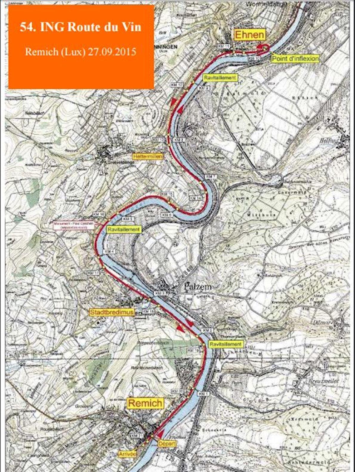 ING Route du Vin Half Marathon Mappa del percorso