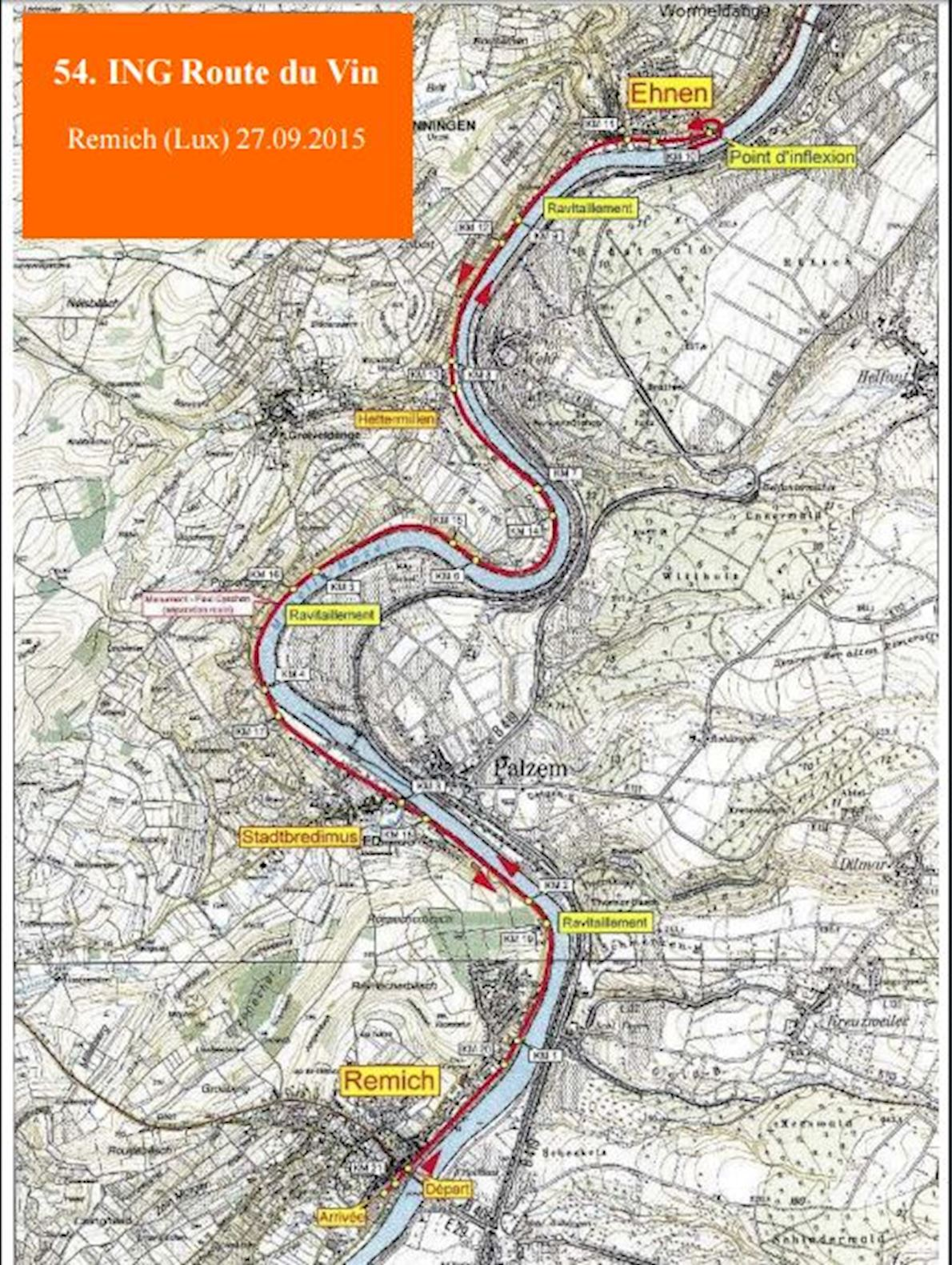 ING Route du vin Route Map