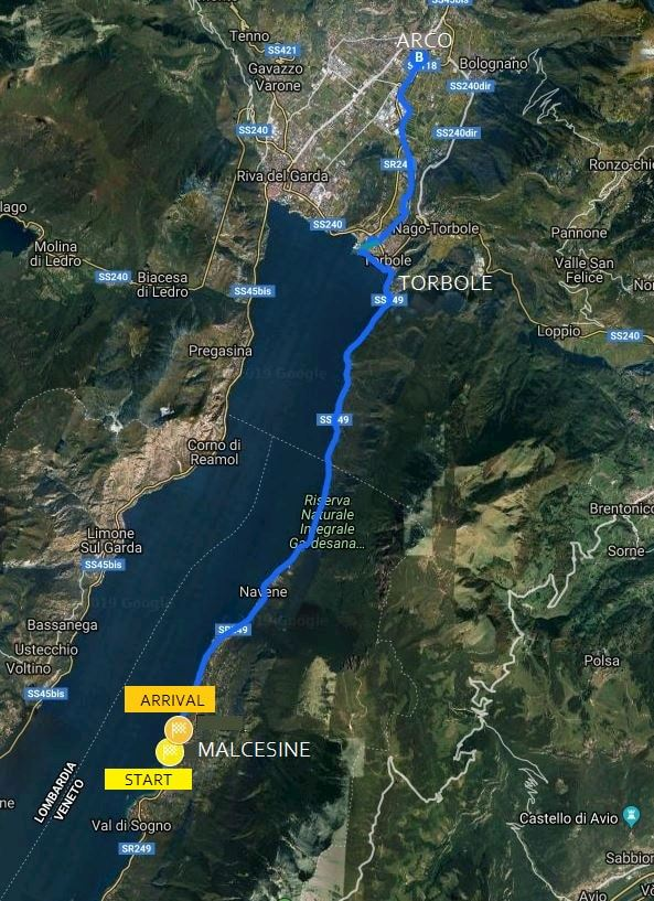 International Lake Garda Marathon Route Map