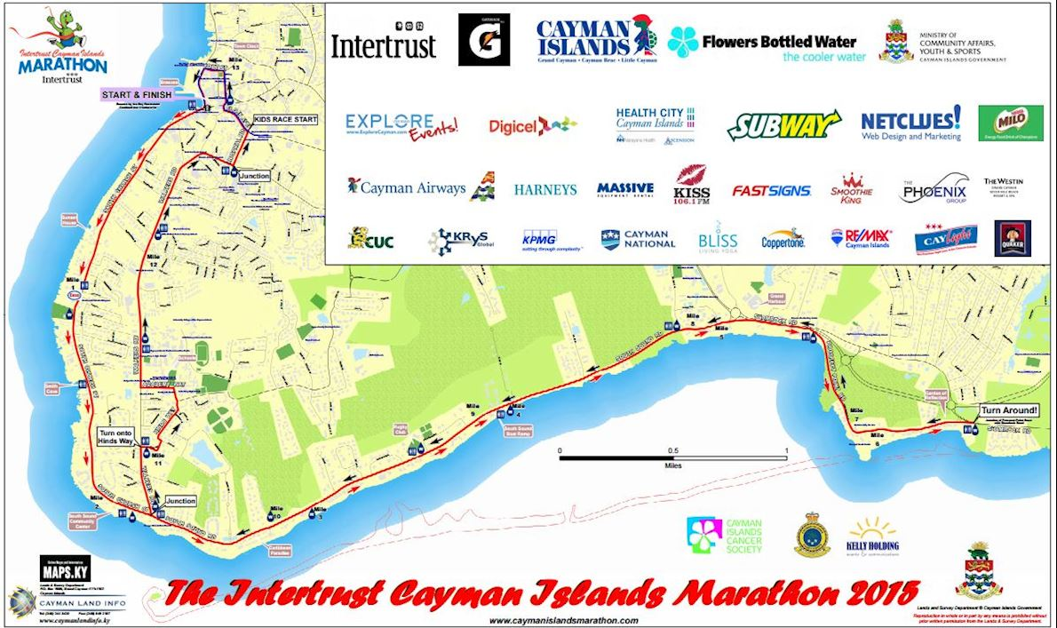 Cayman Islands Marathon 路线图