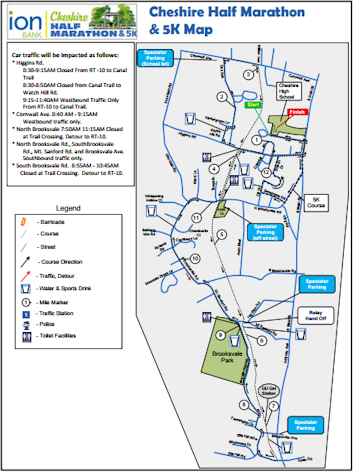 Ion Bank Cheshire Half Marathon & 5K 路线图