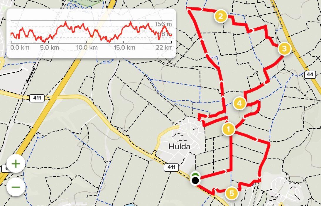 Israel Beaujolais Race 路线图