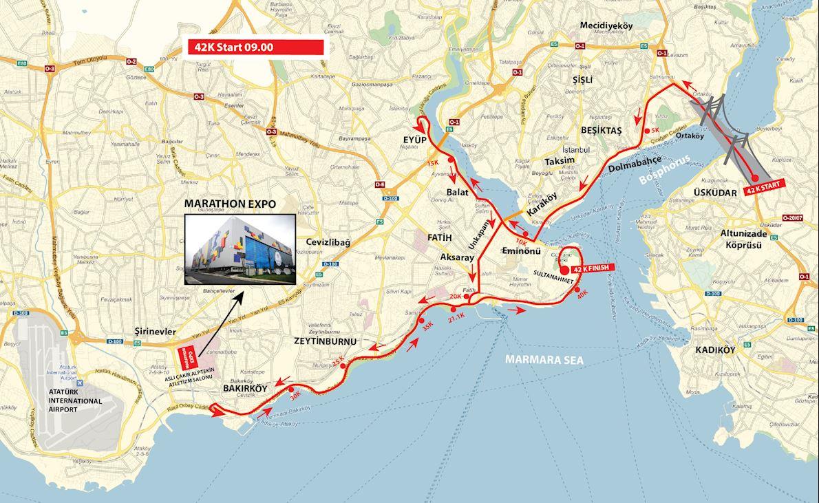 Istanbul Marathon 路线图