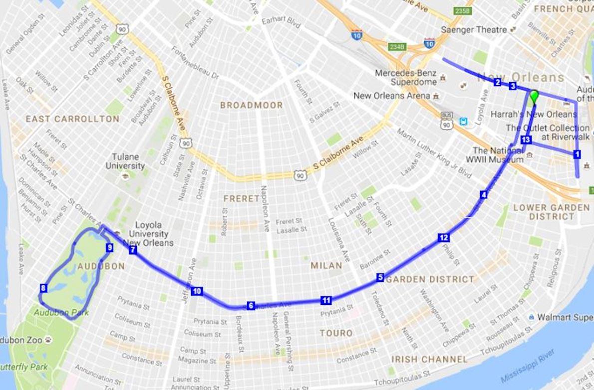 Jazz Half Marathon MAPA DEL RECORRIDO DE