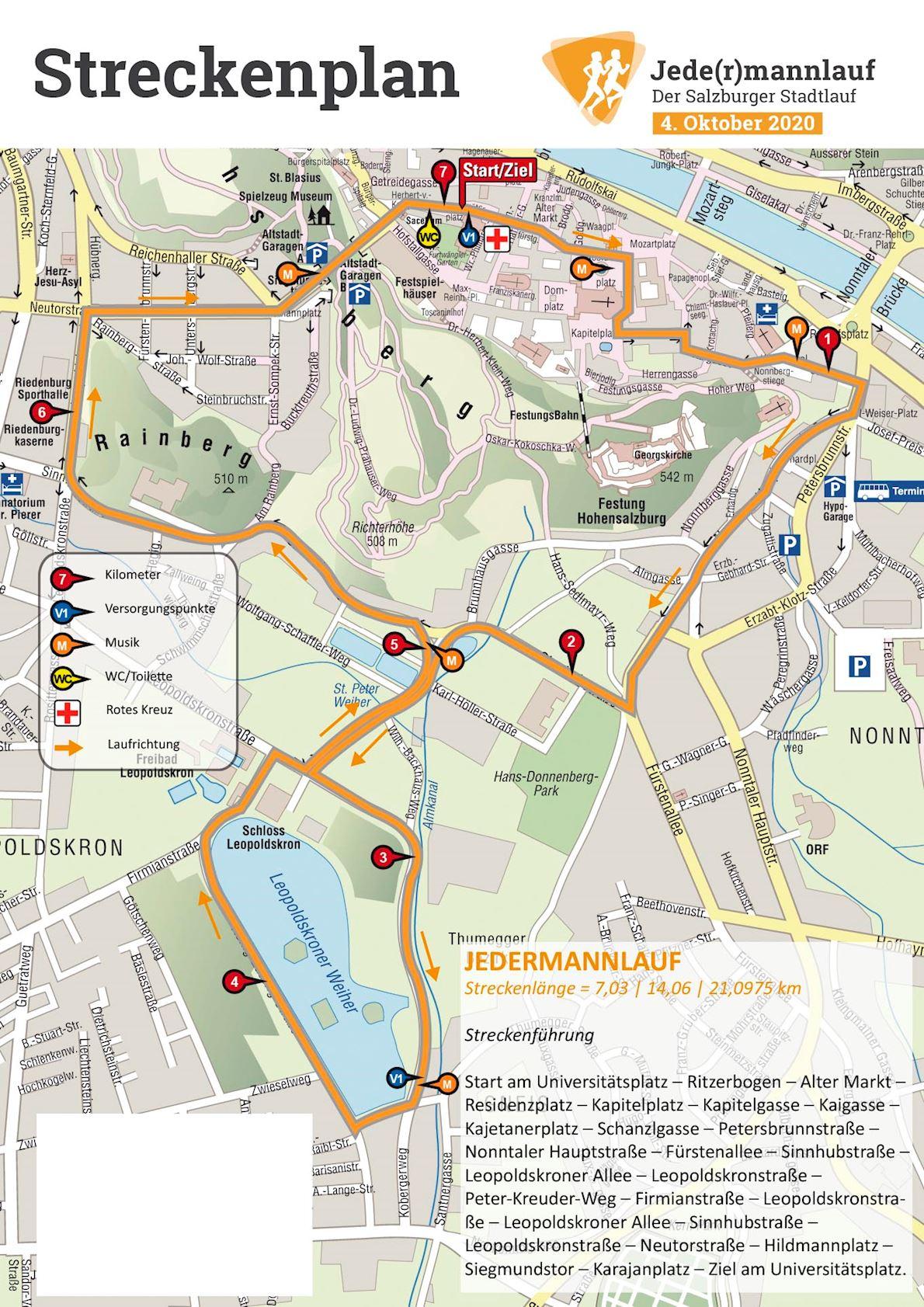 Jedermannlauf Salzburg Route Map