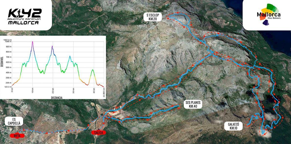 Galatzó Trail Route Map