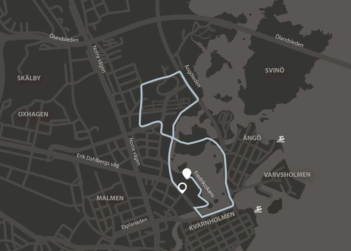 Kalmar Sylvesterloppet MAPA DEL RECORRIDO DE