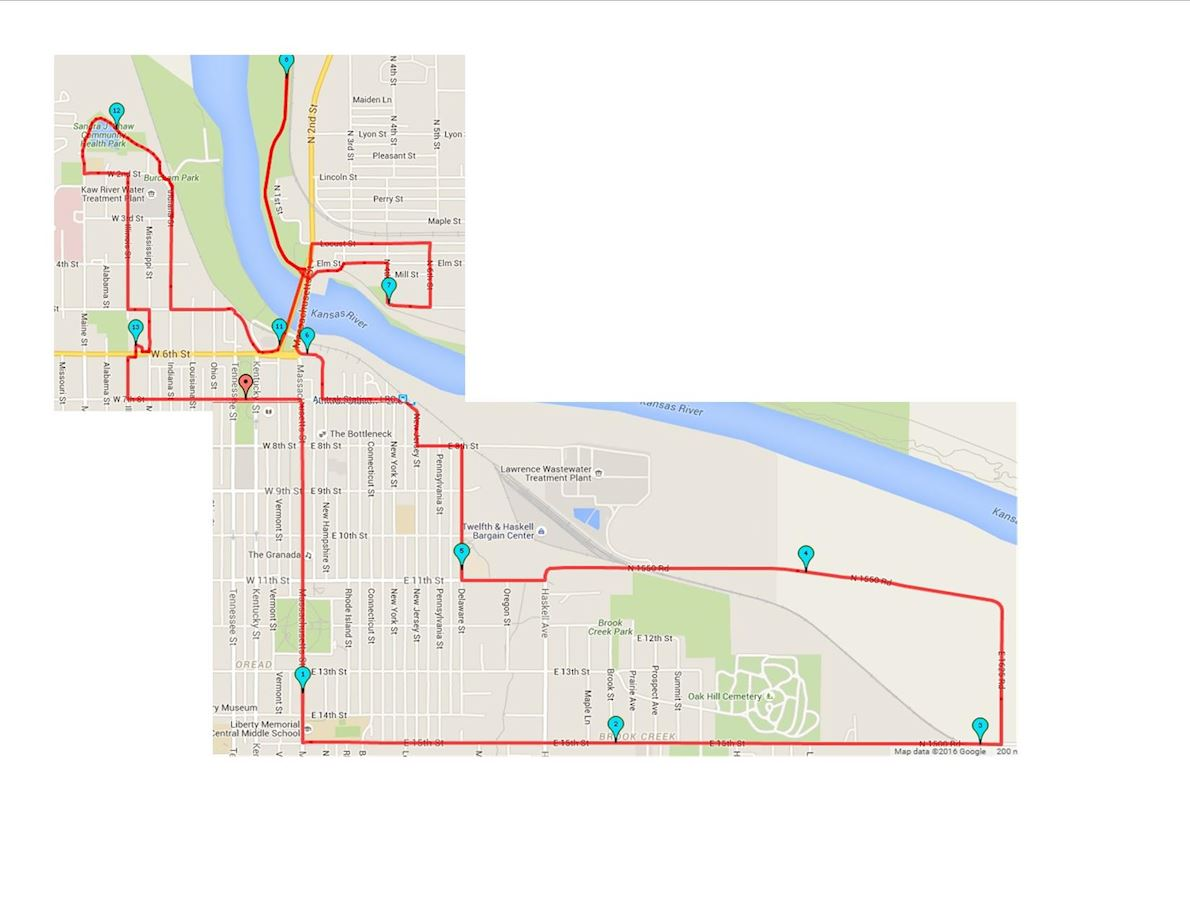 Kansas Half Marathon Route Map