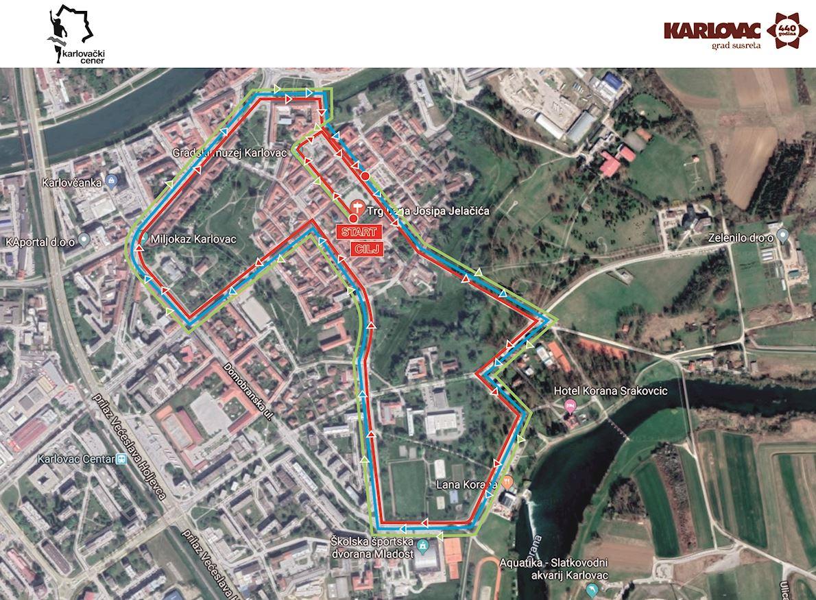 Heineken 0.0 Karlovac 10K WA Bronze Label Race Route Map