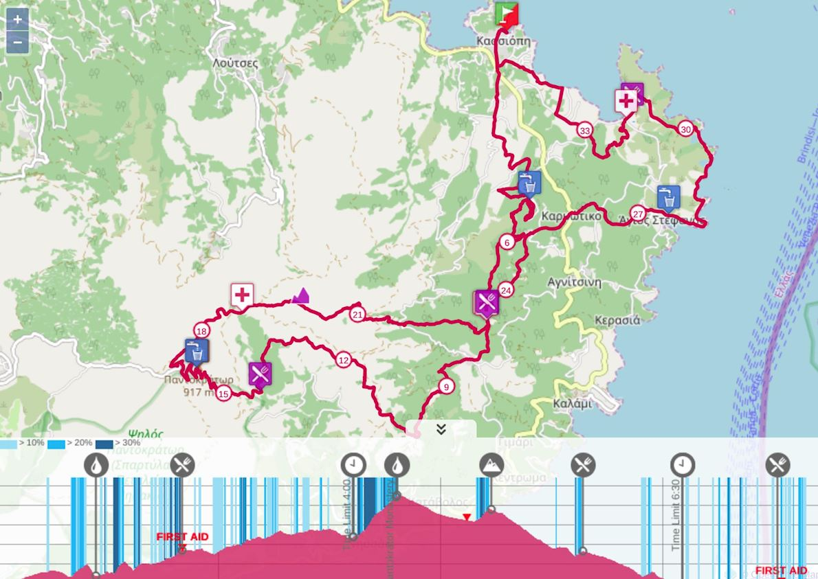 Kassios Dias Trail Route Map