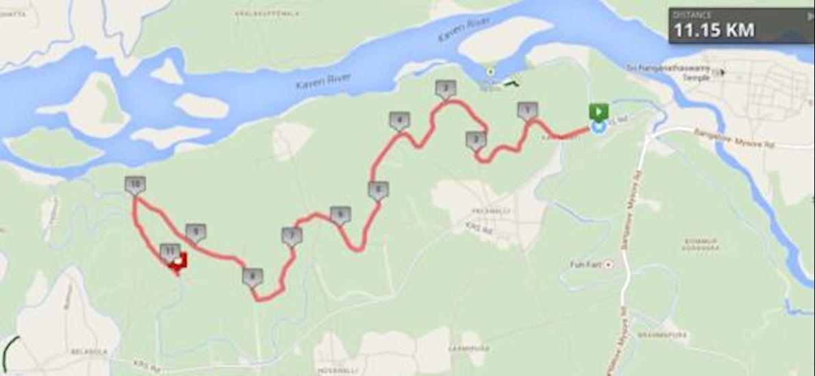Kaveri Trail Marathon Route Map