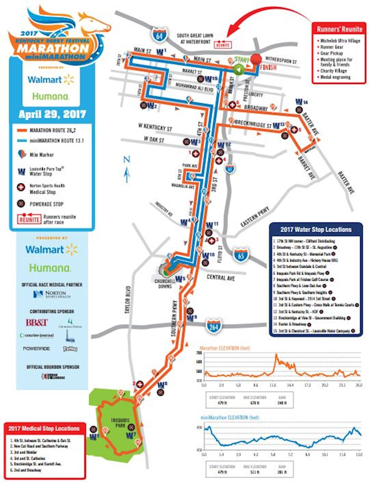 Kentucky Derby Festival Marathon Route Map