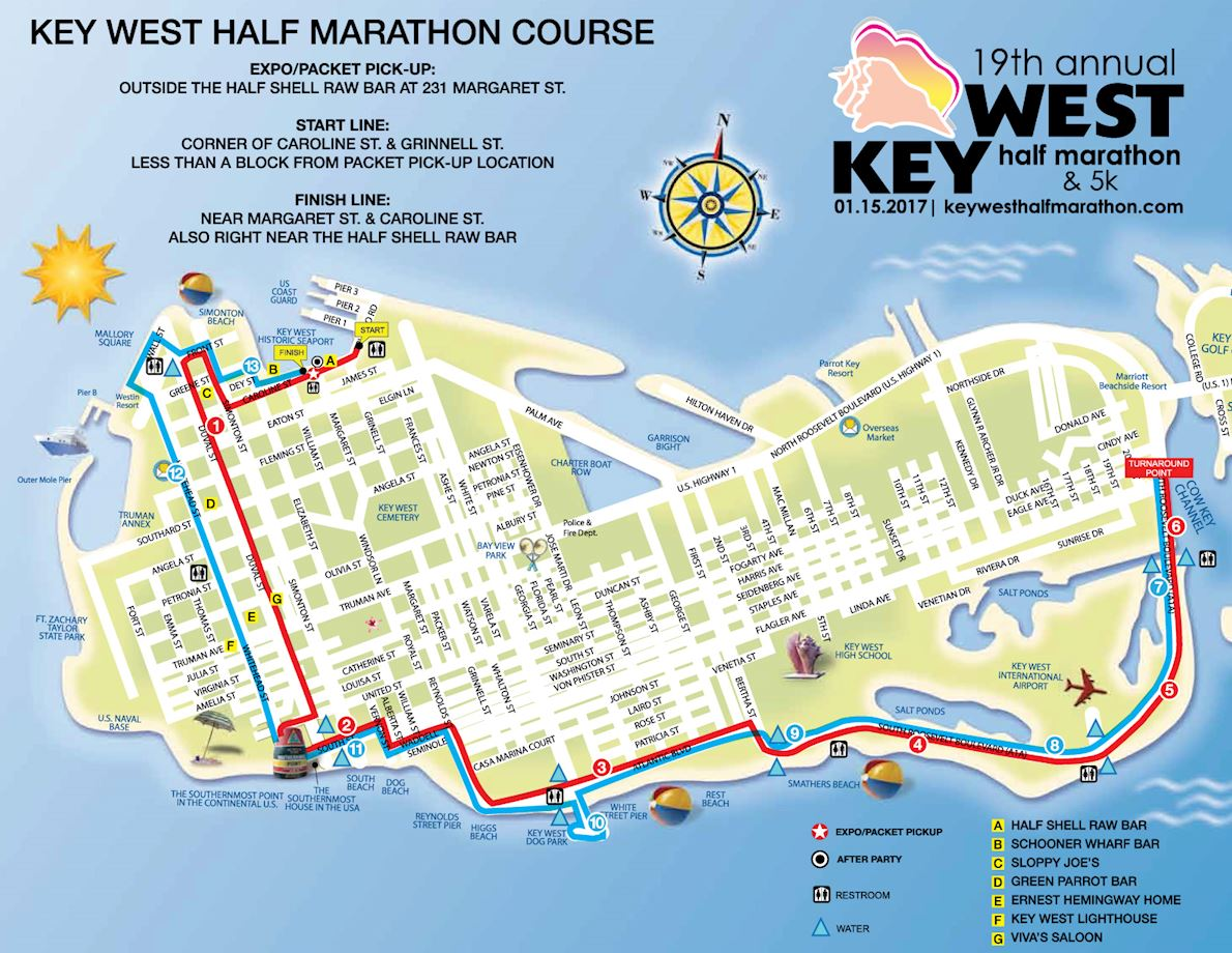 Key West Half Marathon 路线图