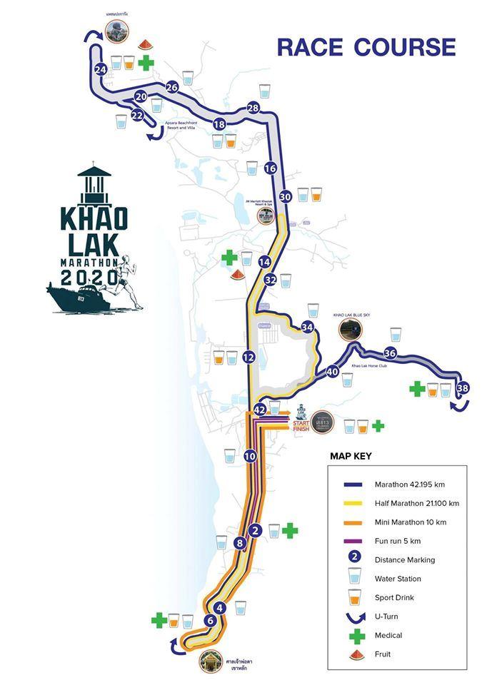 Khao Lak Marathon Route Map