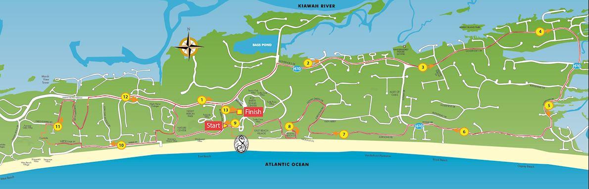 Kiawah Island Marathon MAPA DEL RECORRIDO DE