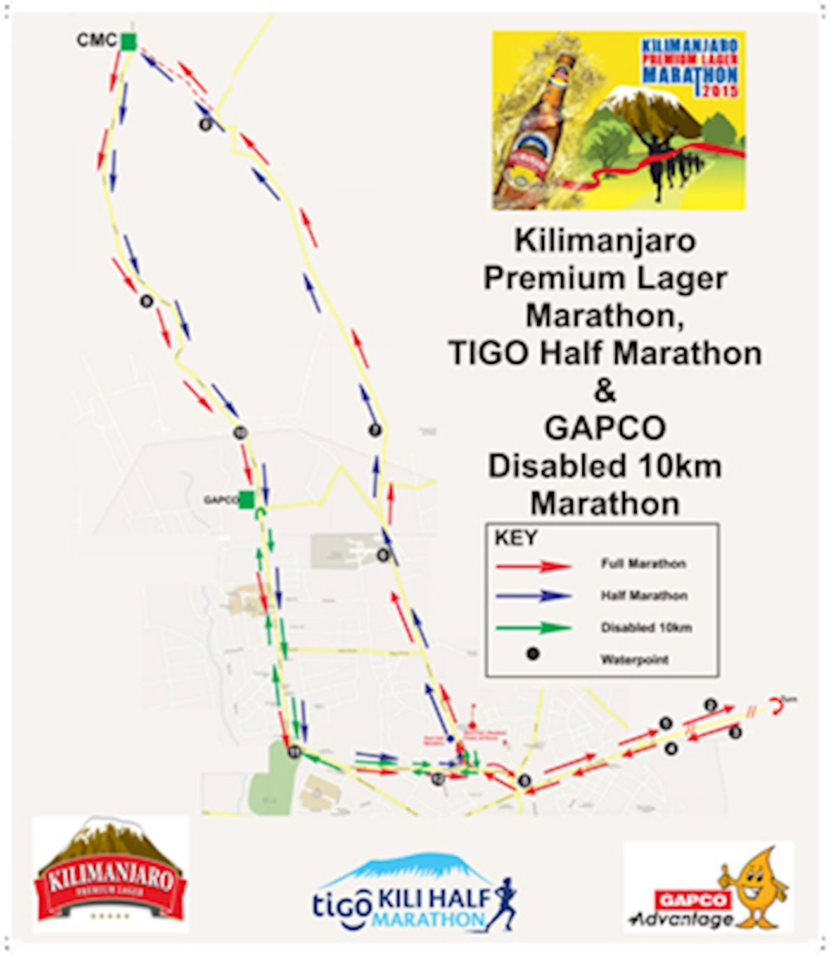 Kilimanjaro Marathon Route Map