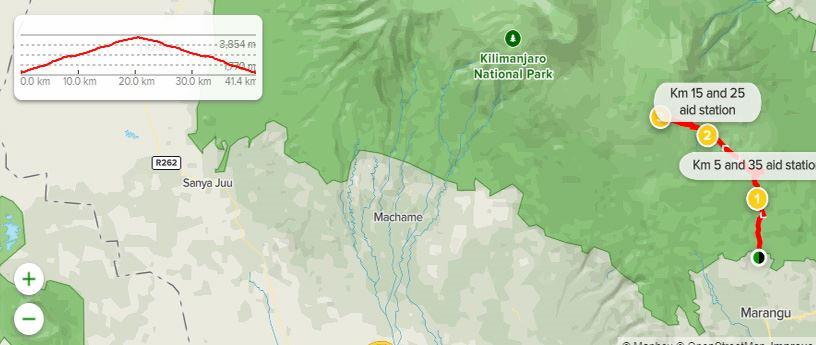 Kilimasai Marathon+safari MAPA DEL RECORRIDO DE