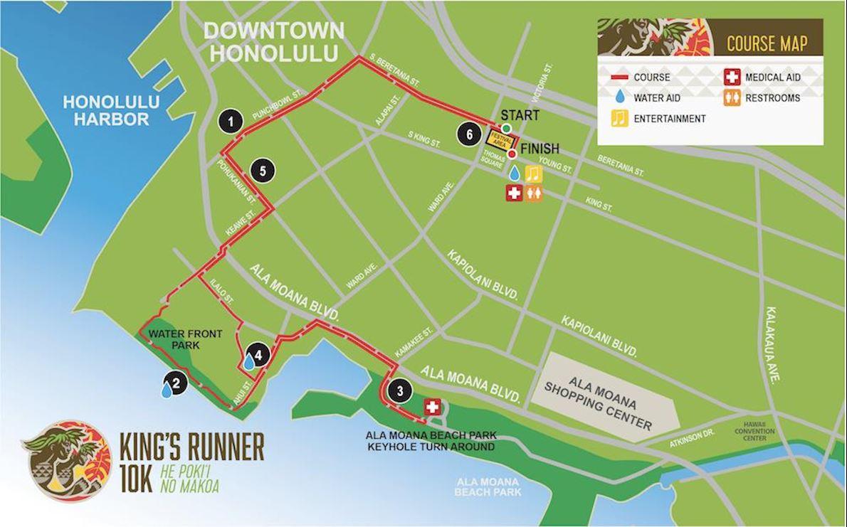 King's Runner 10k Route Map
