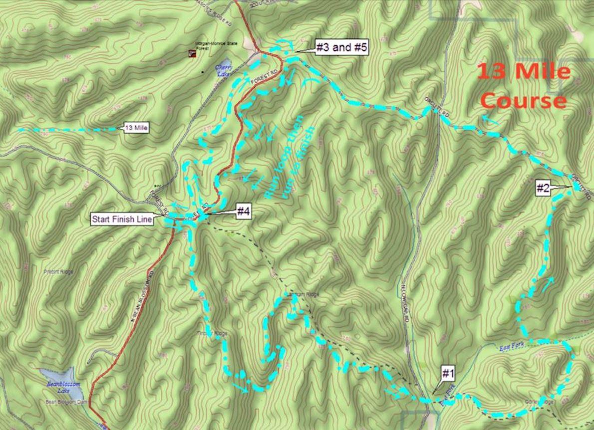 Knobstone Trail Run MAPA DEL RECORRIDO DE