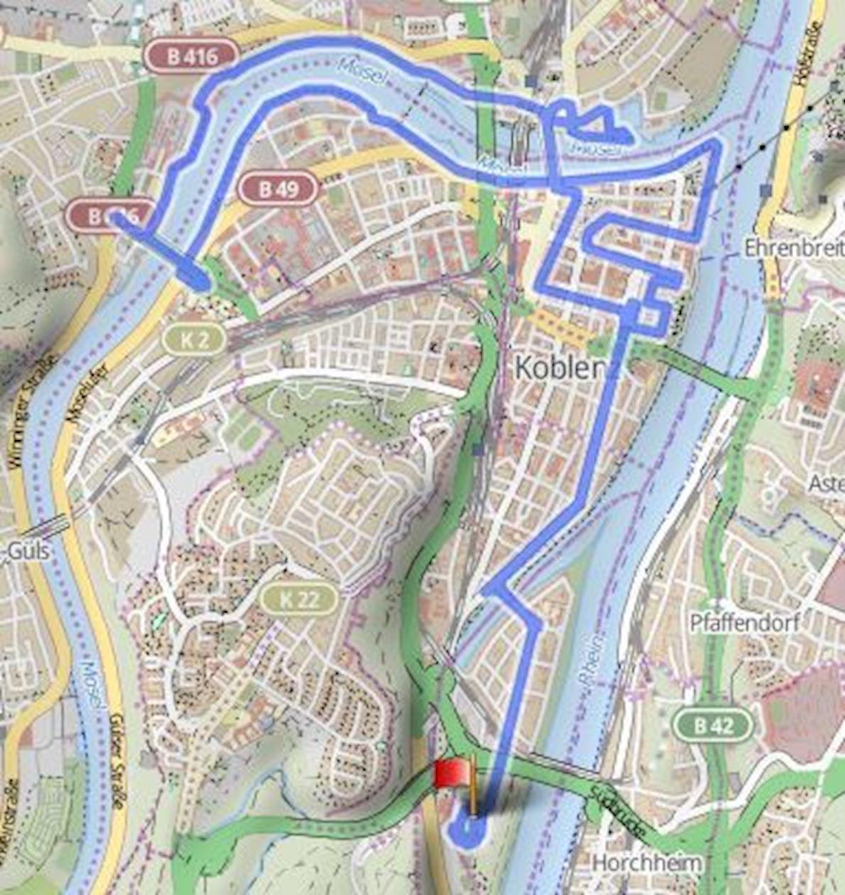 Koblenz Marathon ITINERAIRE