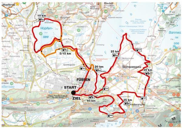 Königsschlösser  Marathon Route Map