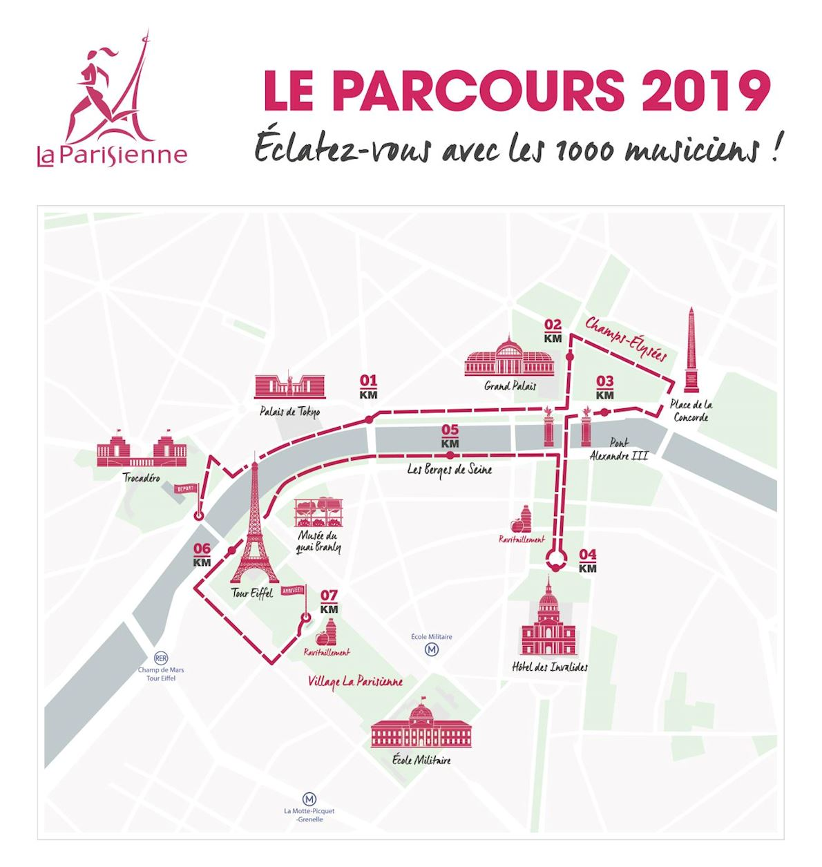 La Parisienne Route Map