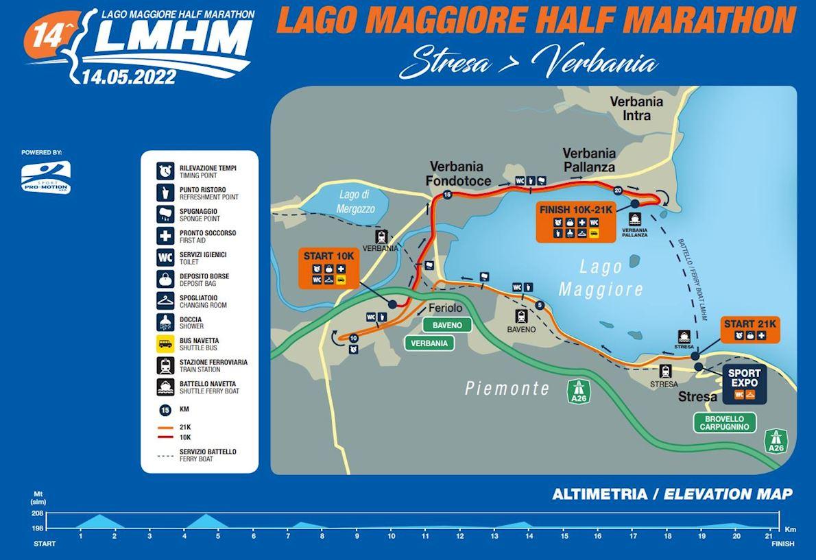 Lake Maggiore Half Marathon MAPA DEL RECORRIDO DE