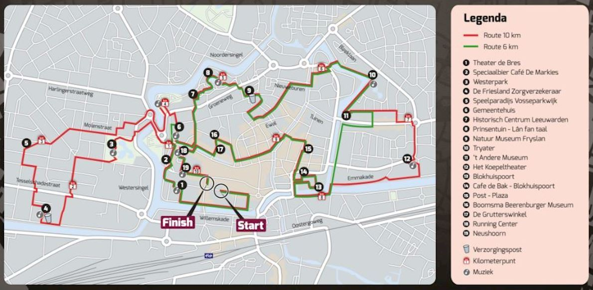 Leeuwarden Urban Trail Route Map