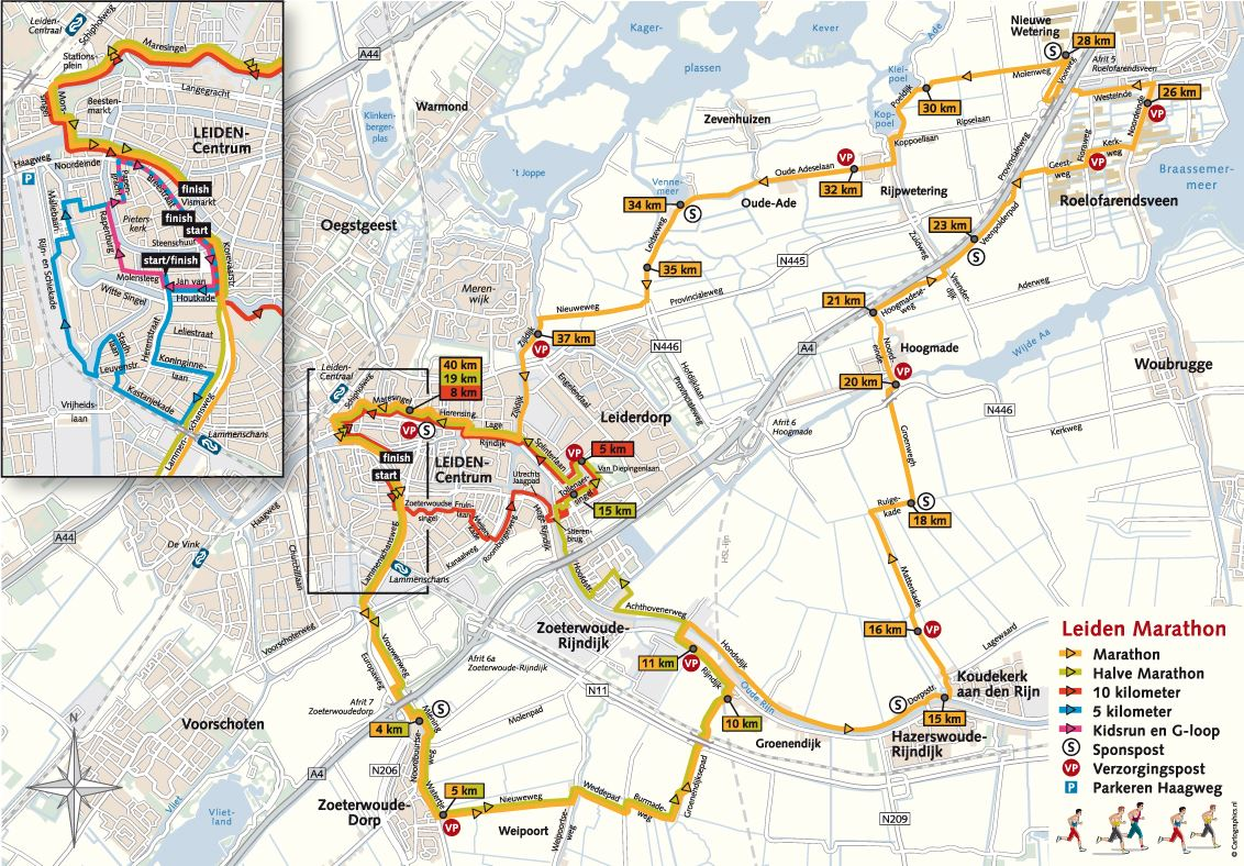 Leiden Marathon Route Map