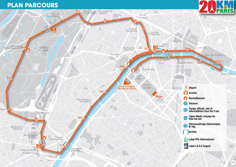 Les 20km de Paris - CANCELLED  Route Map