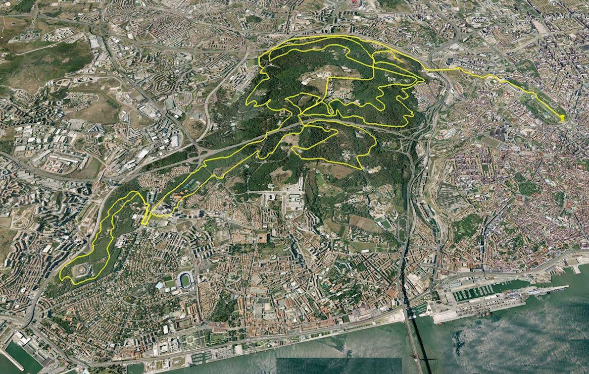 Lisbon Eco Marathon Routenkarte