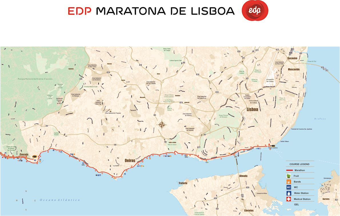 EDP Lisbon Marathon Route Map