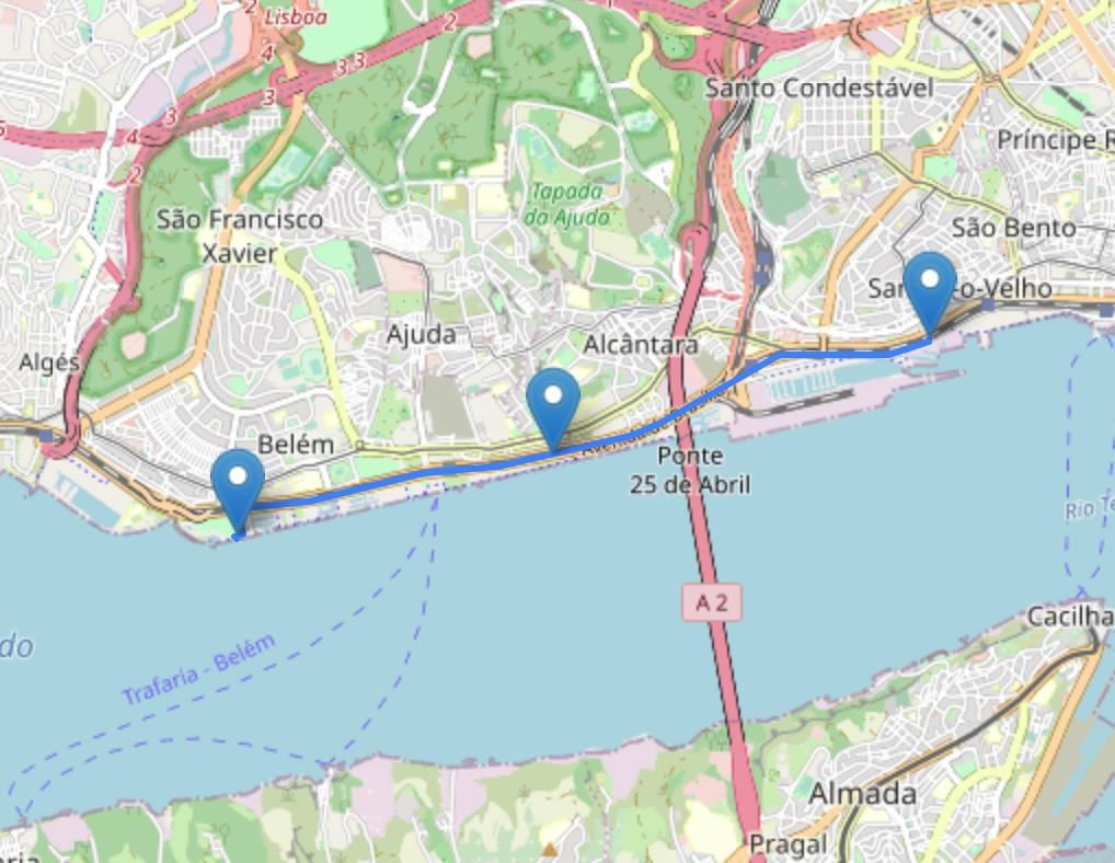 EDP Lisbon Women's Run Route Map