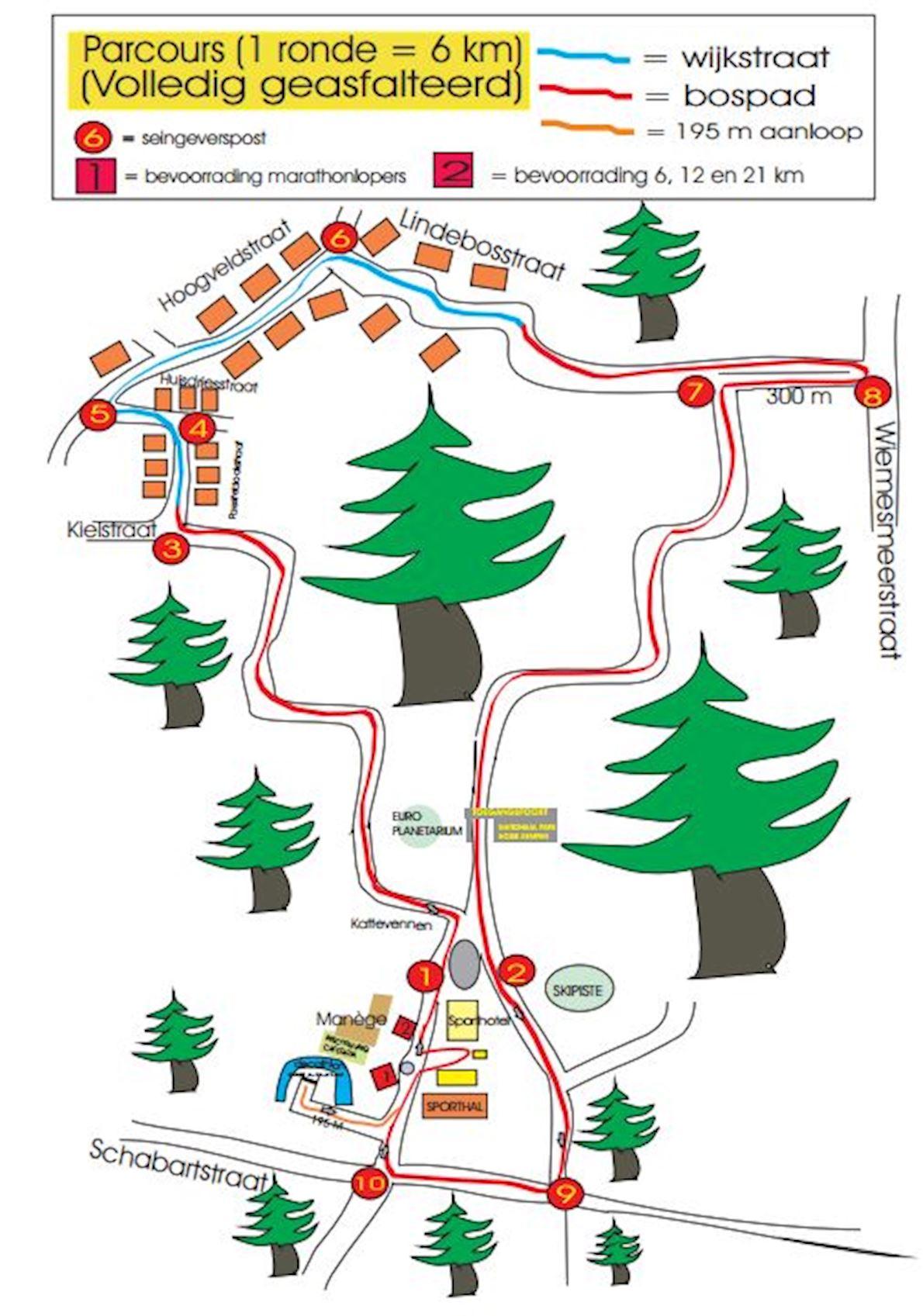 Louis Persoons Marathon Mappa del percorso