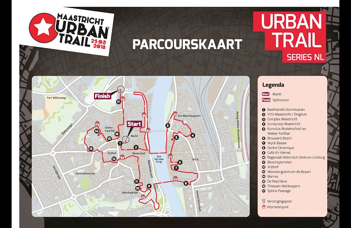 Maastricht Urban Trail Route Map