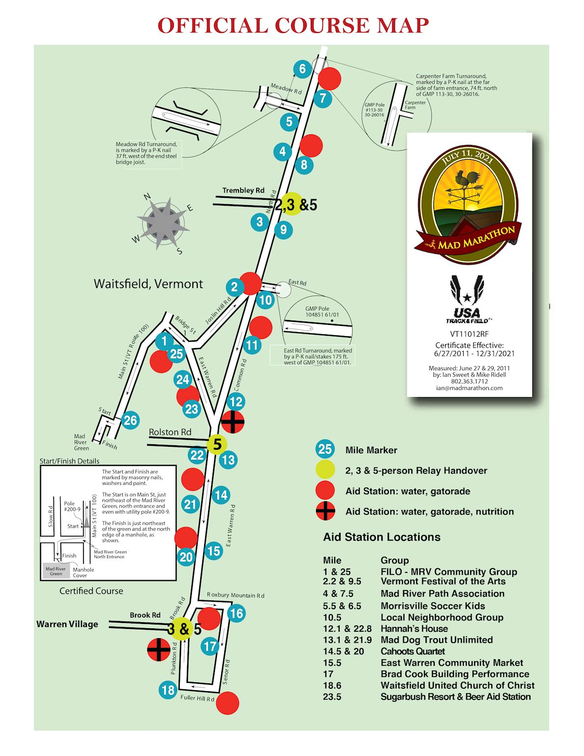 Mad Marathon Route Map
