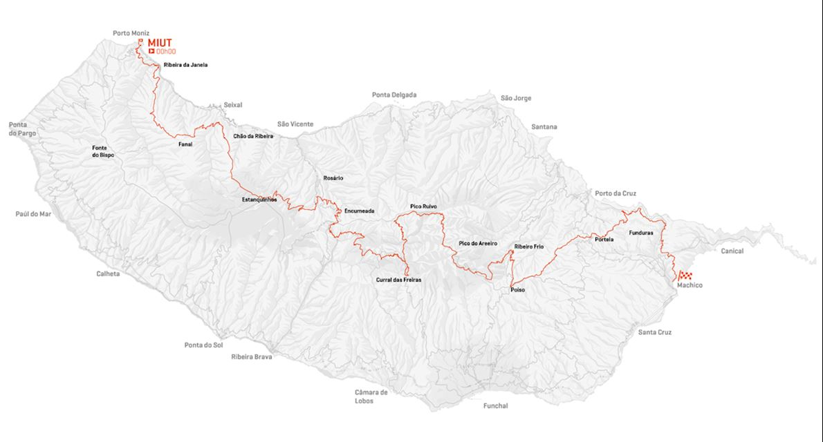 Madeira Island Ultra Trail Route Map