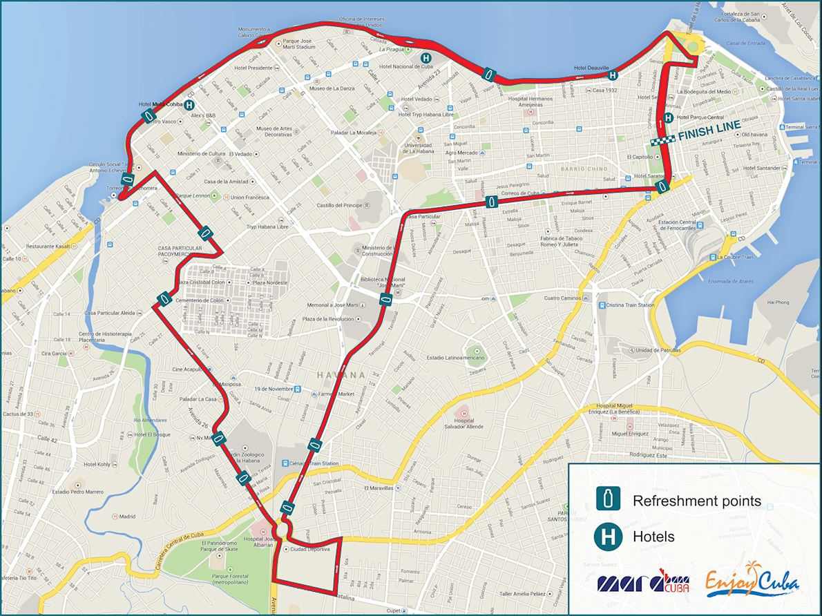 Marabana Marathon Route Map