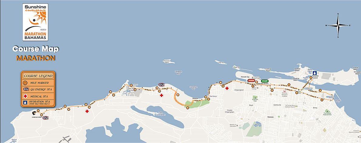 Marathon Bahamas Mappa del percorso