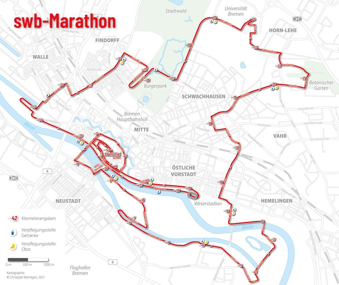 swb Marathon Bremen Route Map