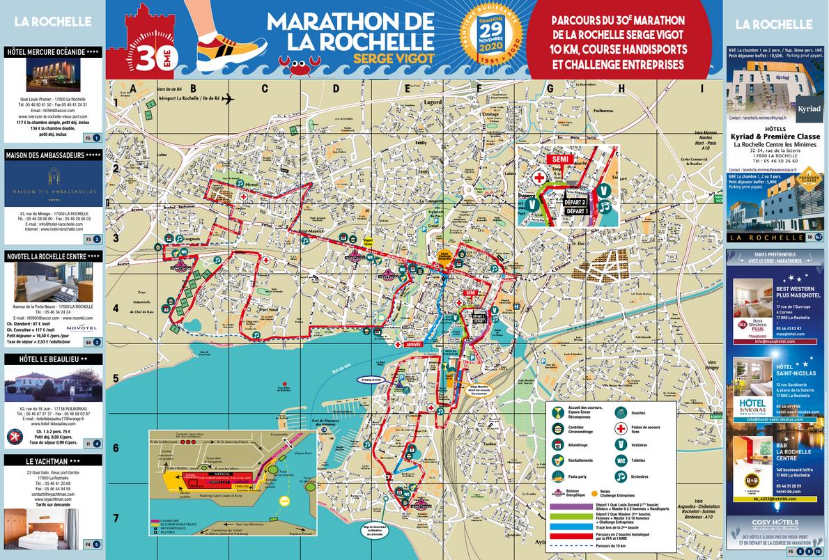 Marathon de La Rochelle MAPA DEL RECORRIDO DE
