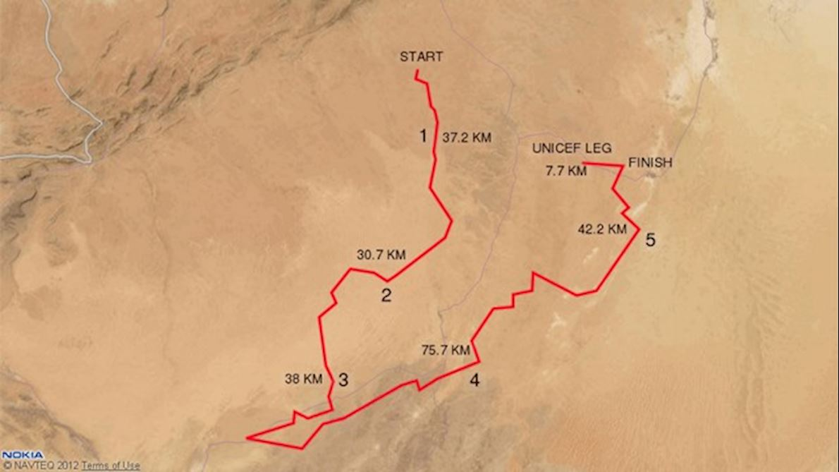 Marathon des Sables Route Map