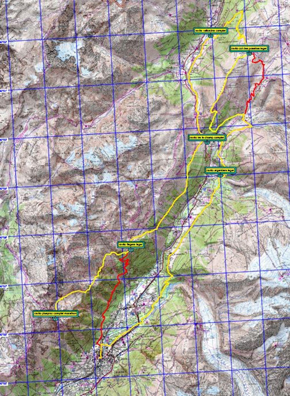 Marathon du Mont-Blanc MAPA DEL RECORRIDO DE
