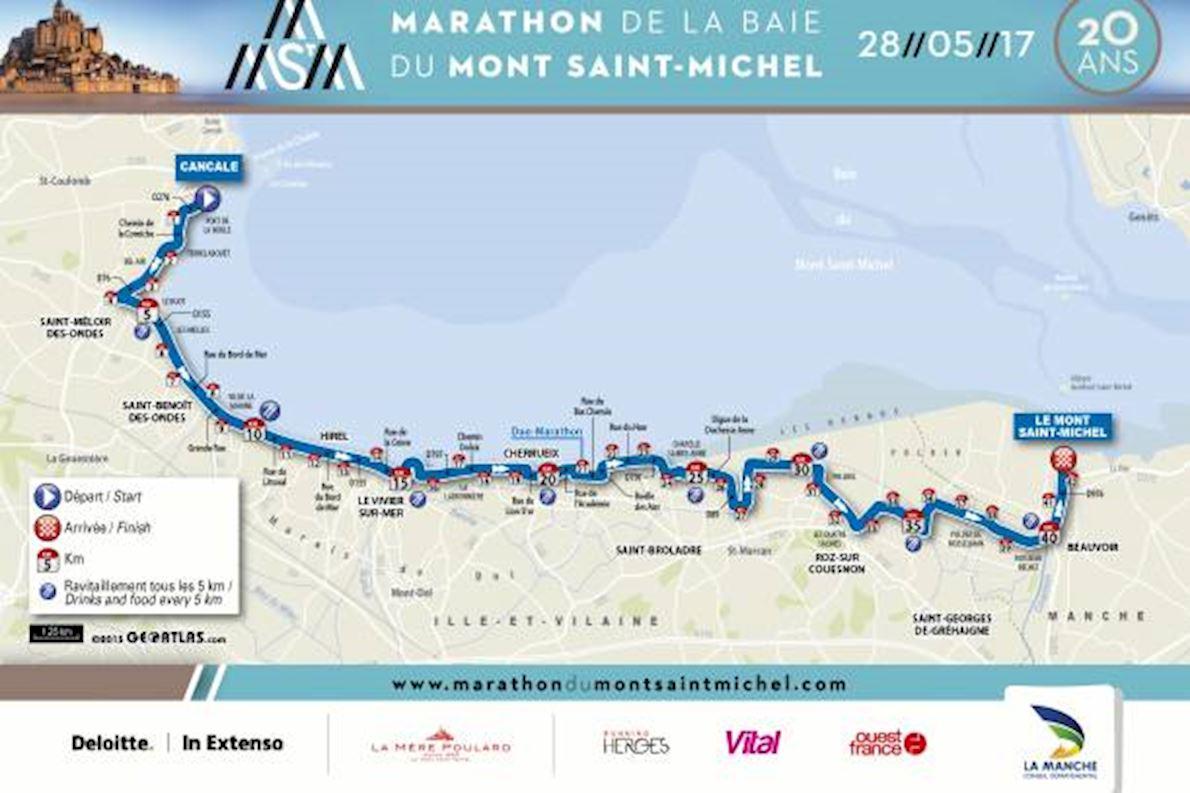 Marathon du Mont Saint-Michel Route Map