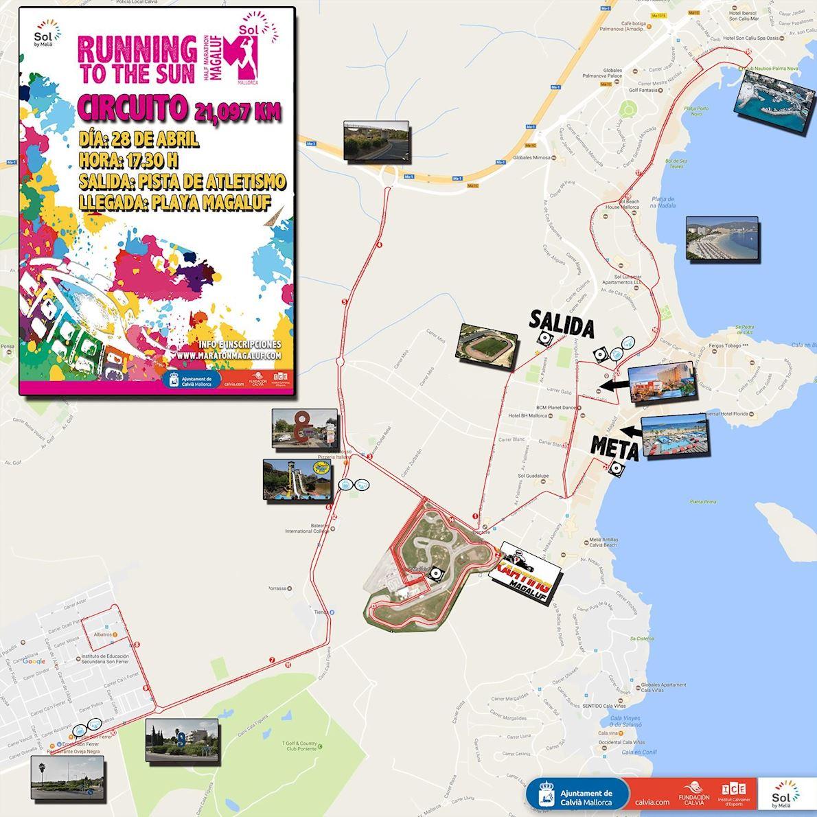 Half Marathon Magaluf MAPA DEL RECORRIDO DE
