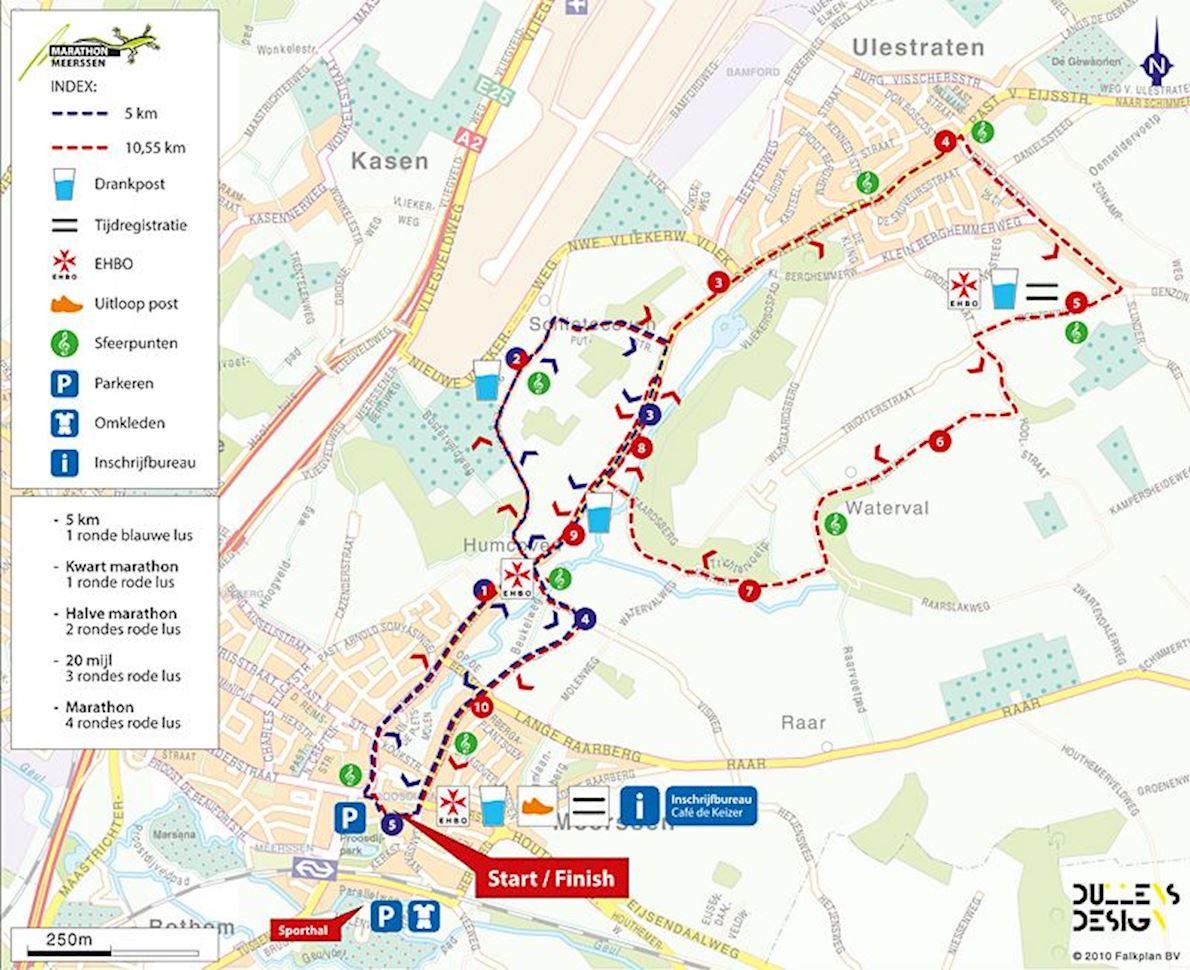 Sfeervol Meerssen Run Routenkarte